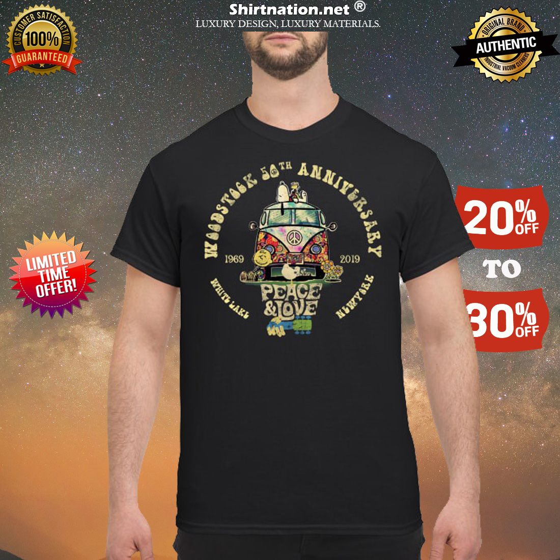 Woodstock 50th anniversary 1969 2019 shirt