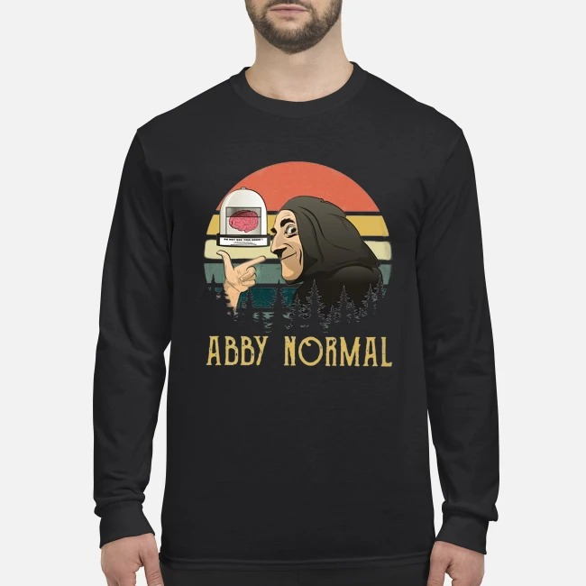 Young Frankenstein abby normal men's long sleeved shirt