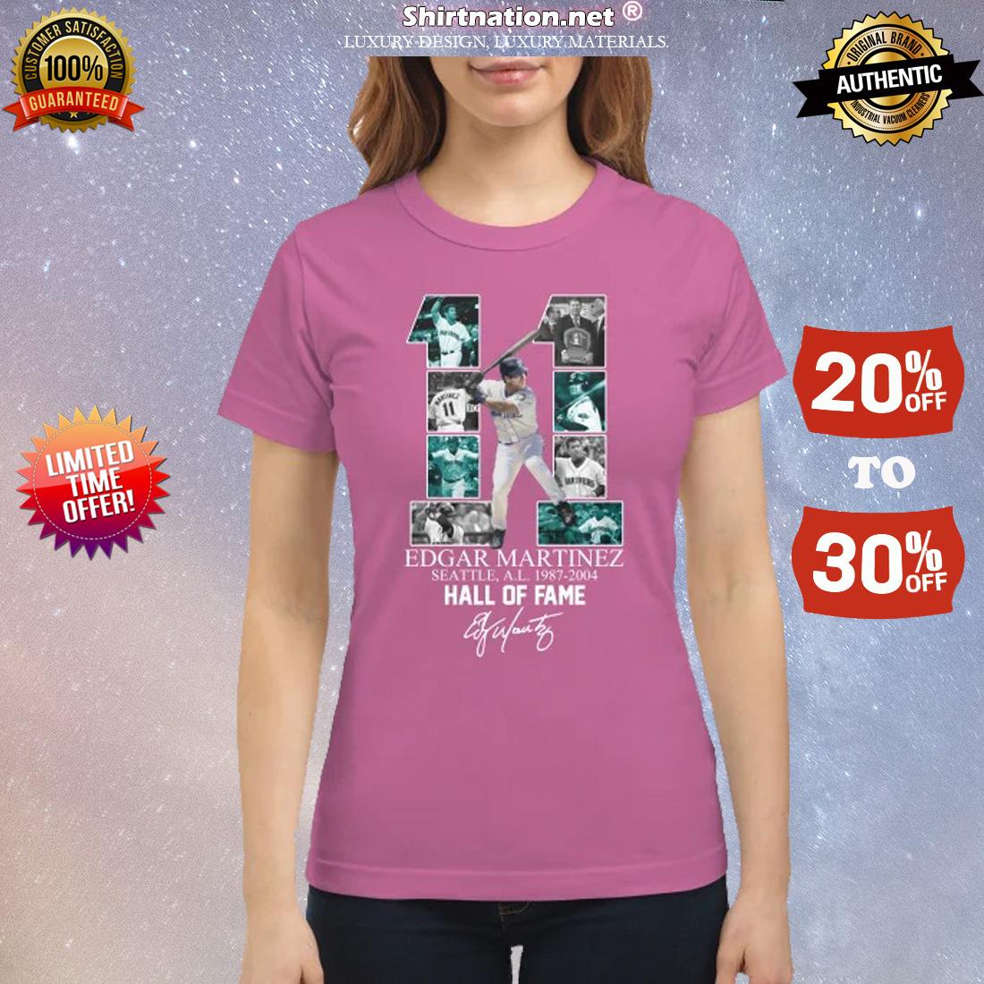 11 Edgar Marinez hall of fame signature classic shirt