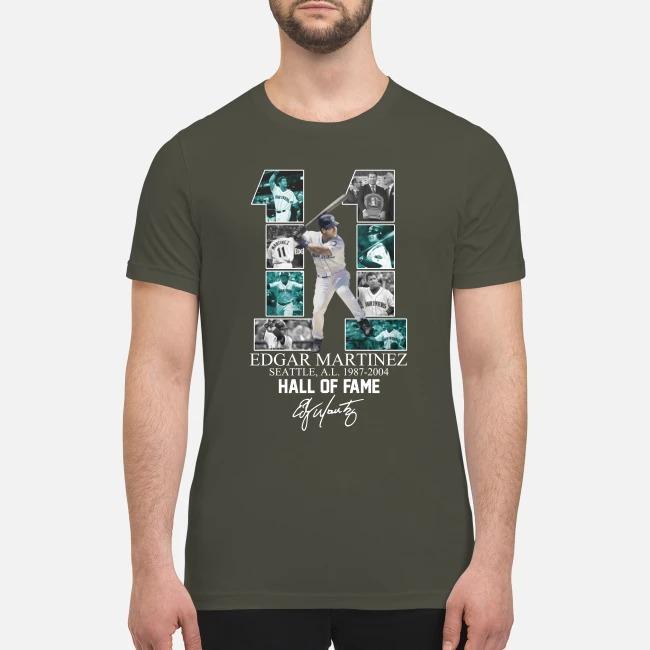 11 Edgar Marinez hall of fame signature premium men's shirt