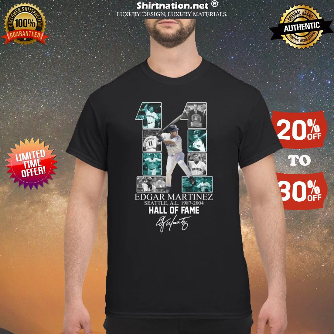 11 Edgar Marinez hall of fame signature shirt