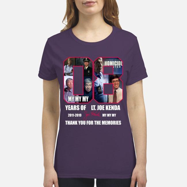 8 years of Joe Kenda thank you for the memories premium women's shirt