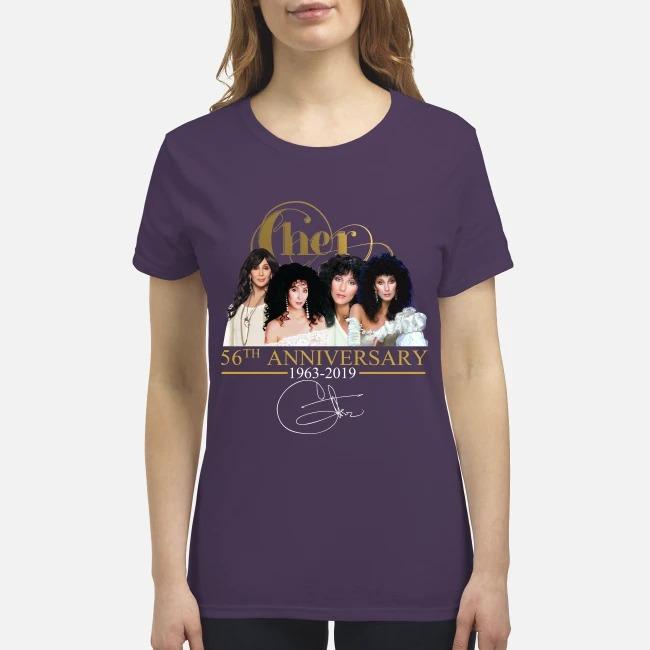 Cher 56th anniversary premium men's shirt