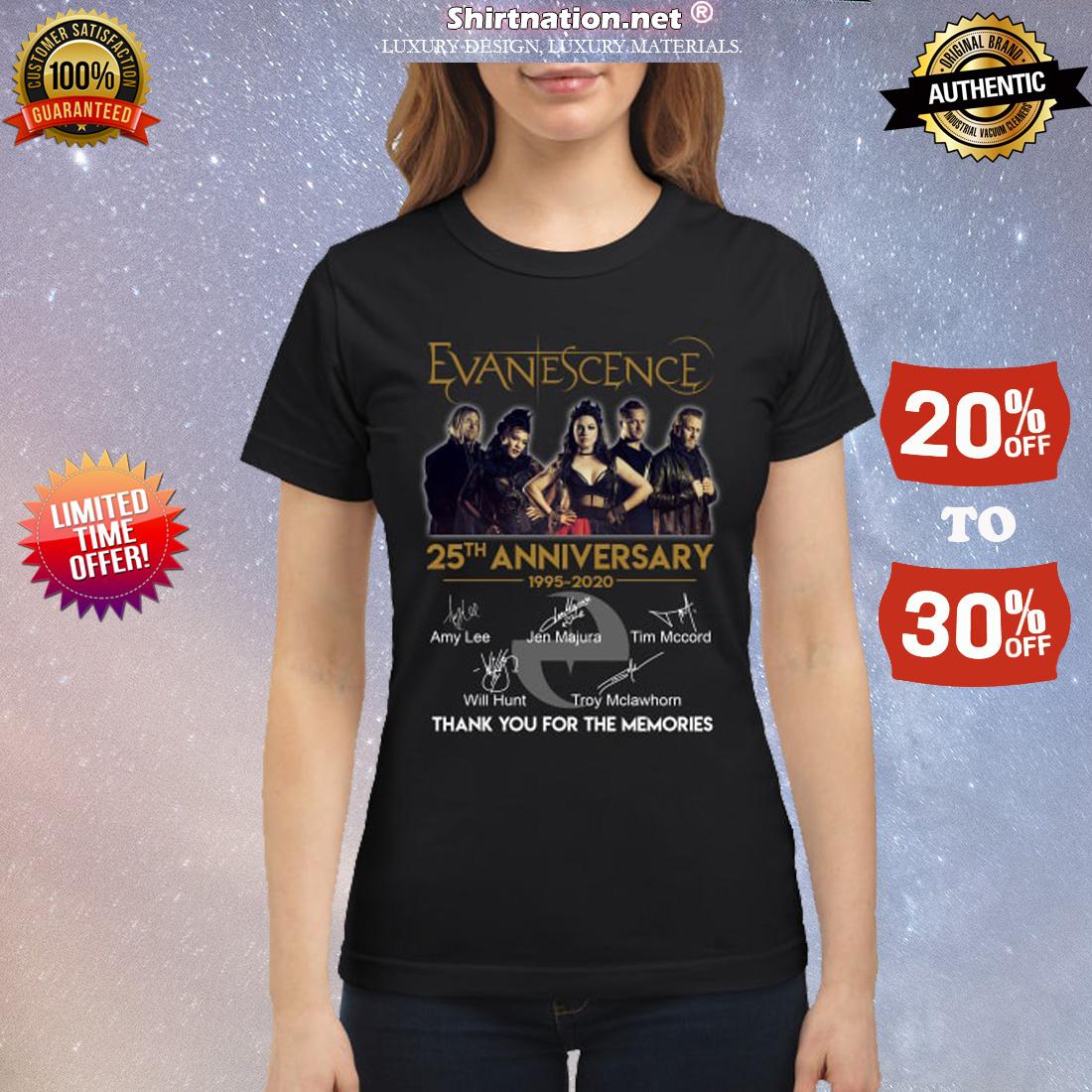 Evanescence 25th anniversary classic shirt