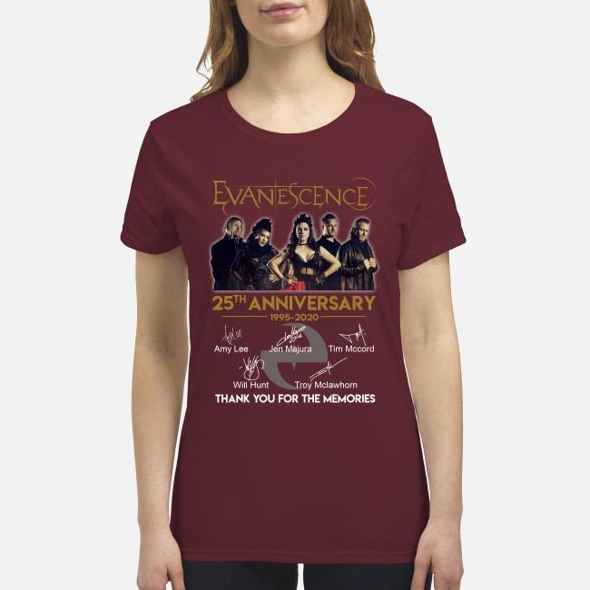 Evanescence 25th anniversary premium women's shirt