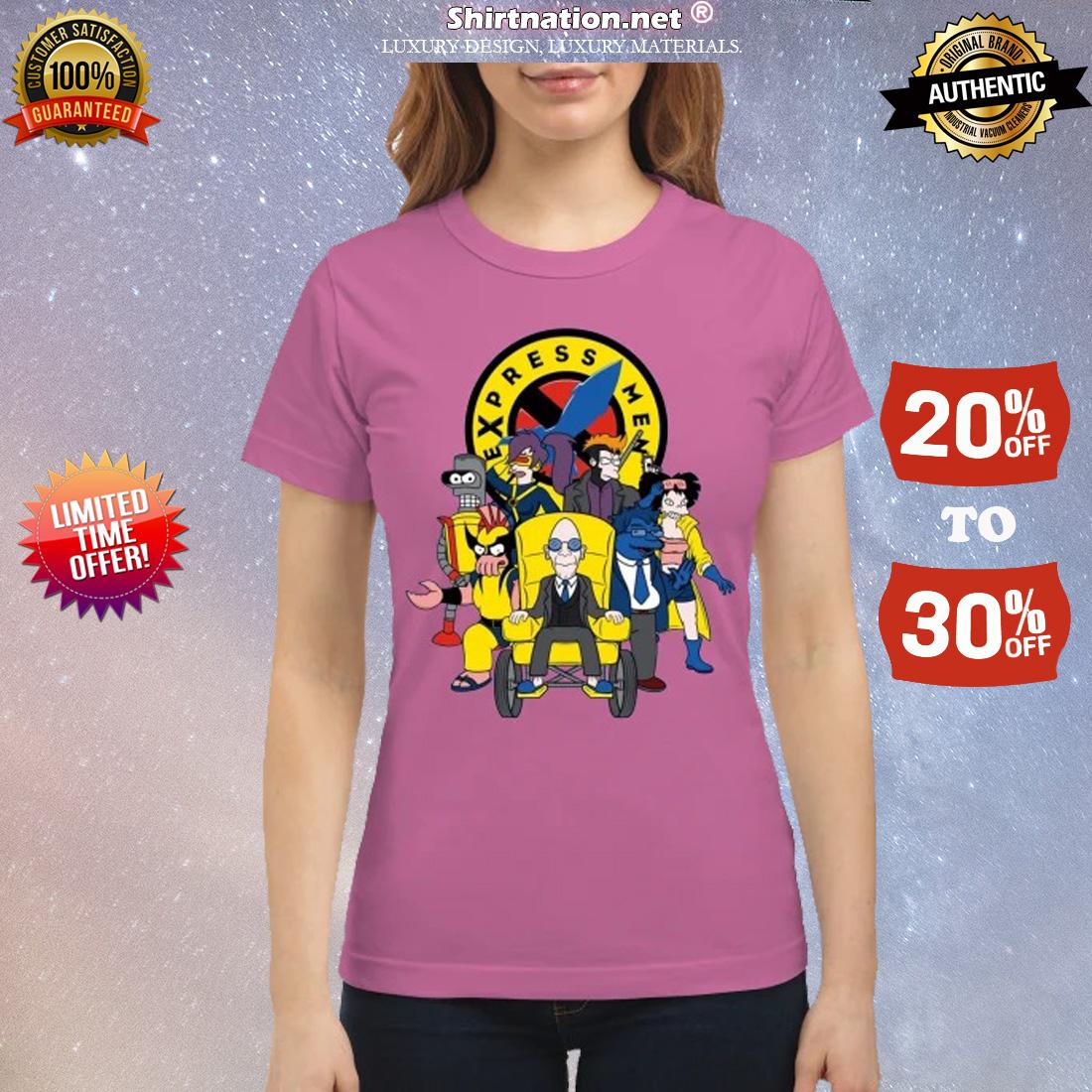 Futarama X-men Express men classic shirt