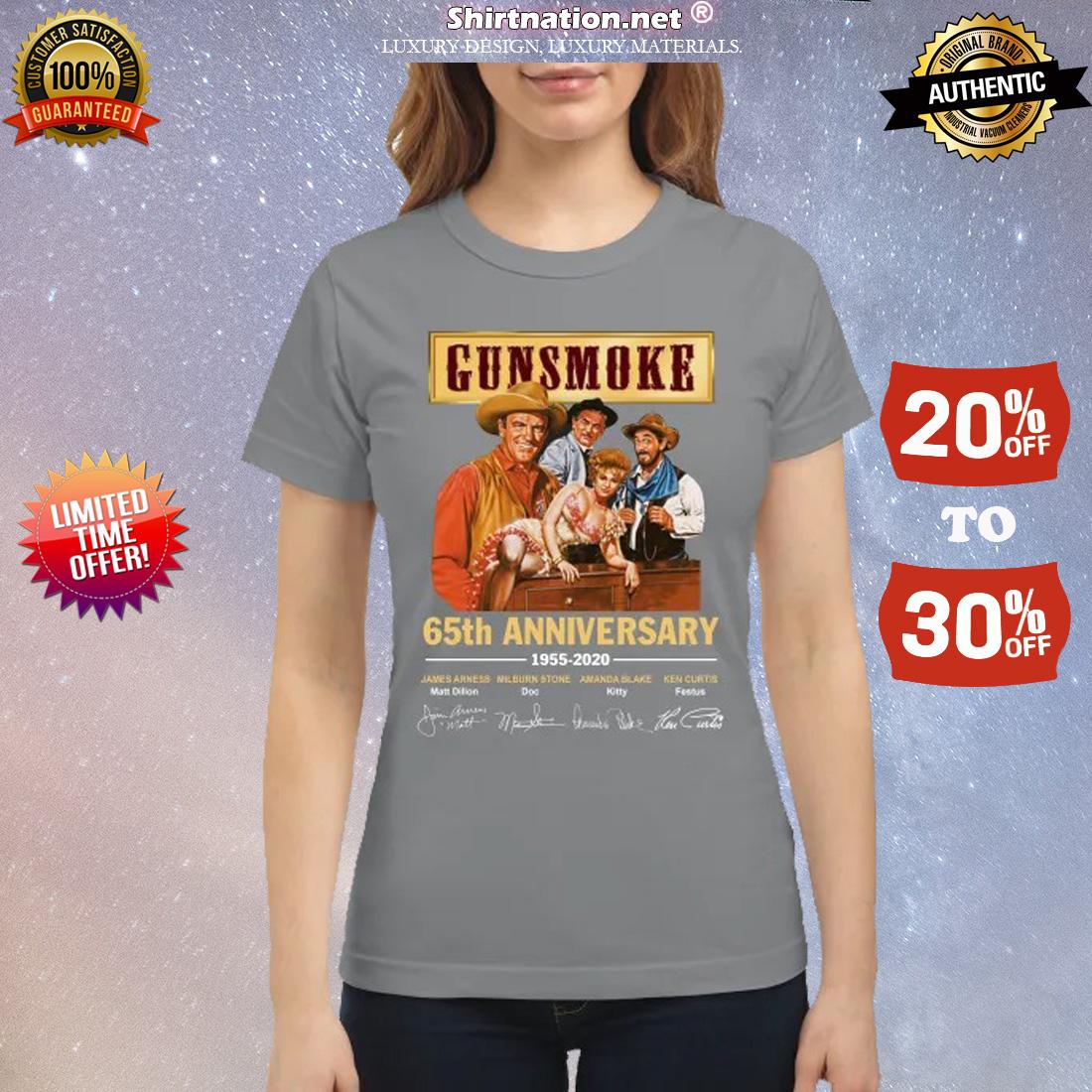 Gunsmoke 65th anniversary 1955 2020 classic shirt