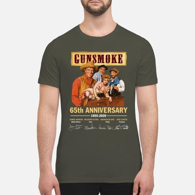 Gunsmoke 65th anniversary 1955 2020 premium men's shirt