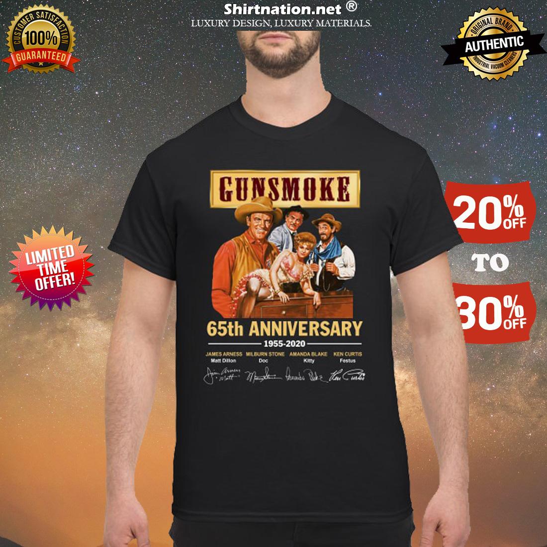 Gunsmoke 65th anniversary 1955 2020 shirt