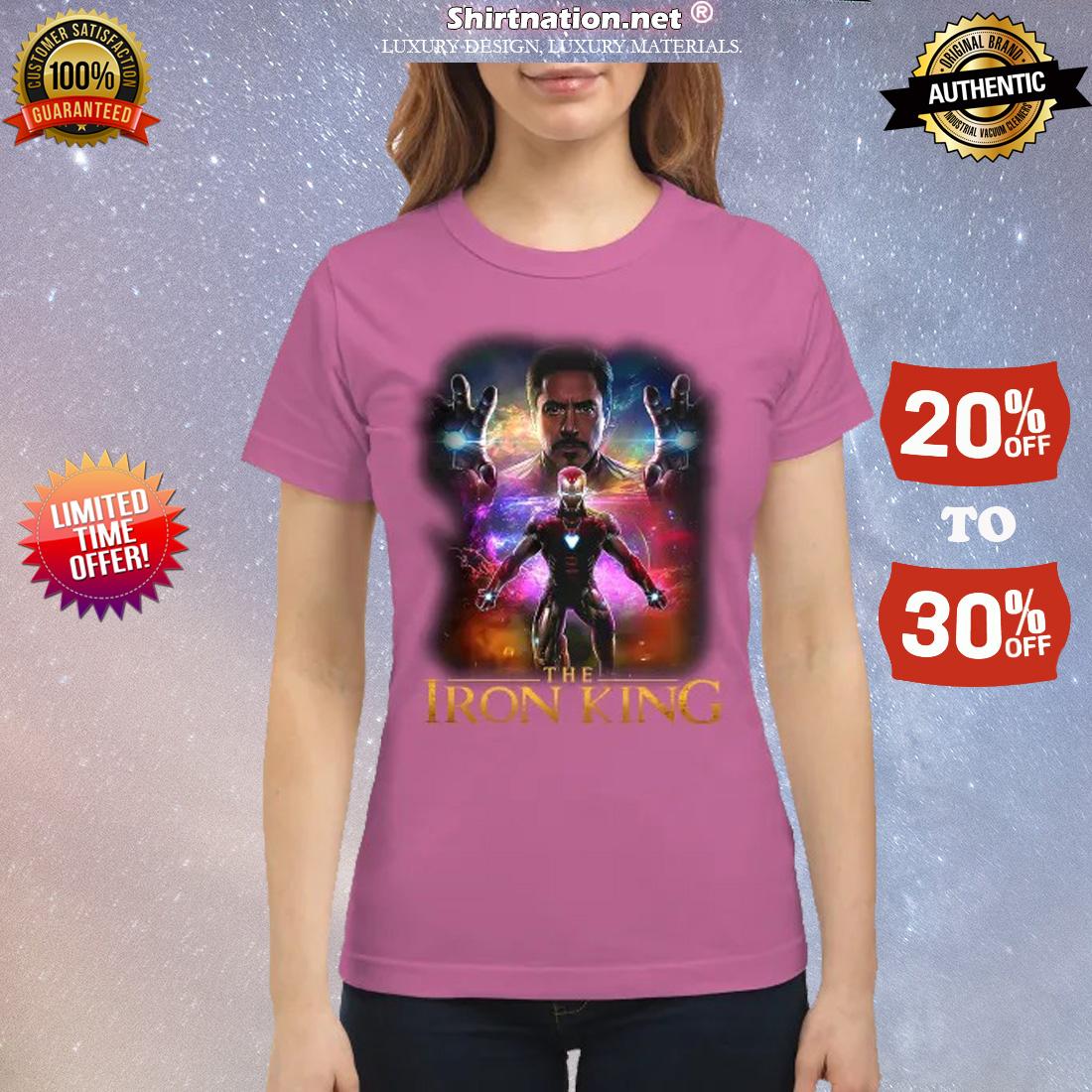 Iron man the iron king classic shirt