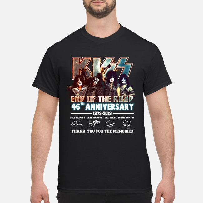 Kiss end of the road 46th anniversary classic shirt