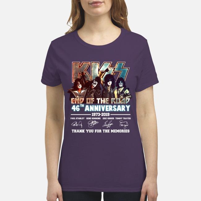 Kiss end of the road 46th anniversary premium women's shirt