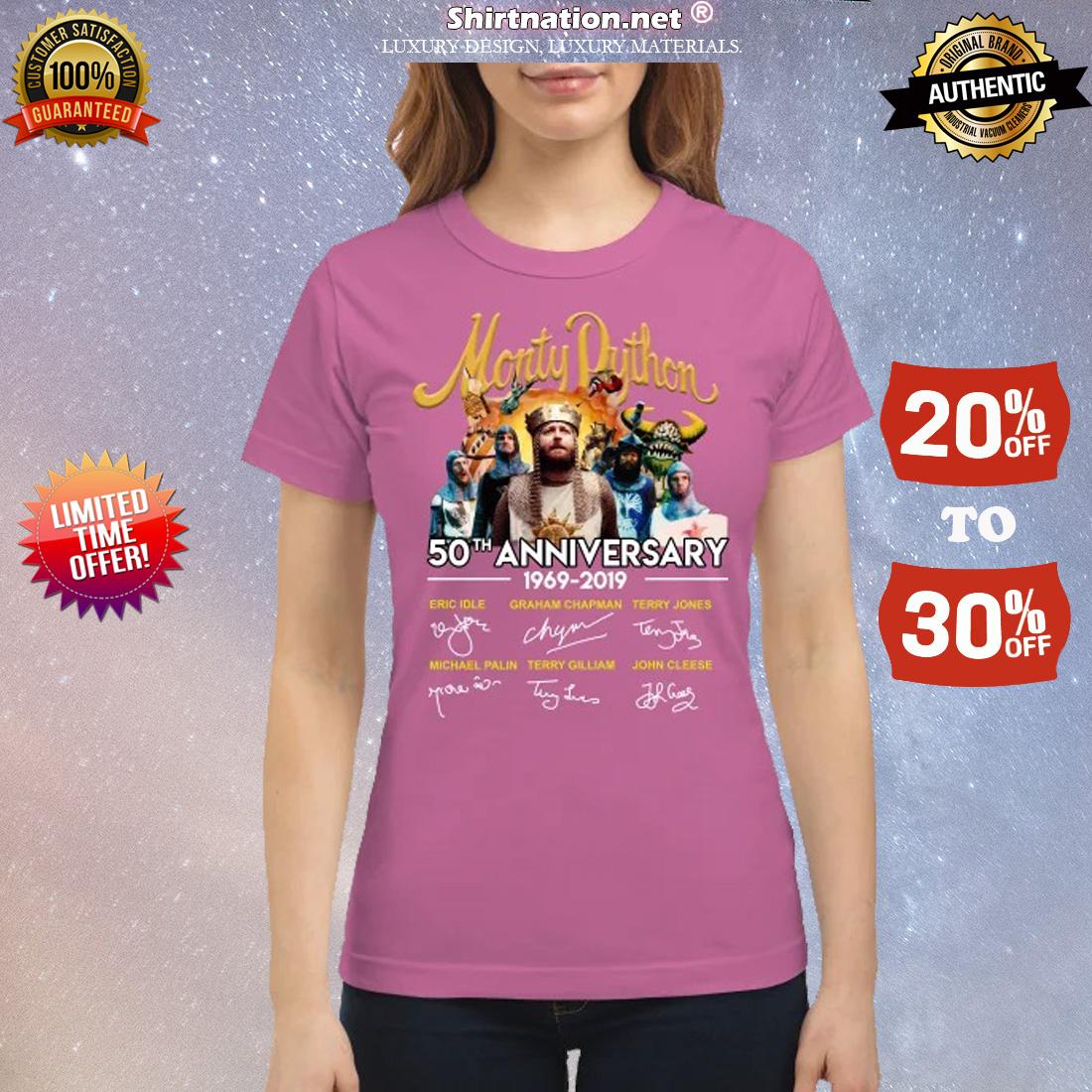 Monty Dython 50th anniversary classic shirt