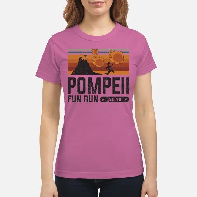 Pompell fun run AD 79 classic shirt