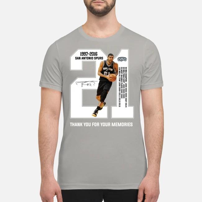 San Atonio Spurs 1997 2016 thank you for the memories premium men's shirt