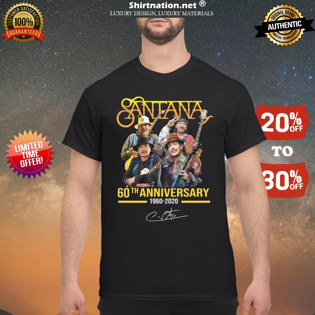 Santana 60th anniversary 1960 2012 shirt