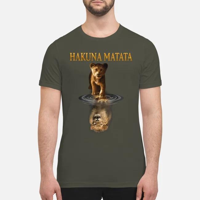 Simba Mufasa reflection Hakuna matata premium men's shirt