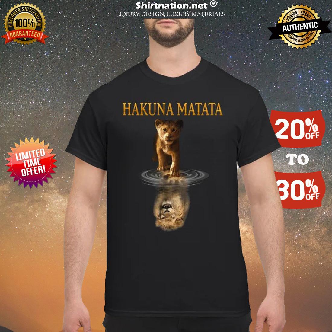 Simba Mufasa reflection Hakuna matata shirt