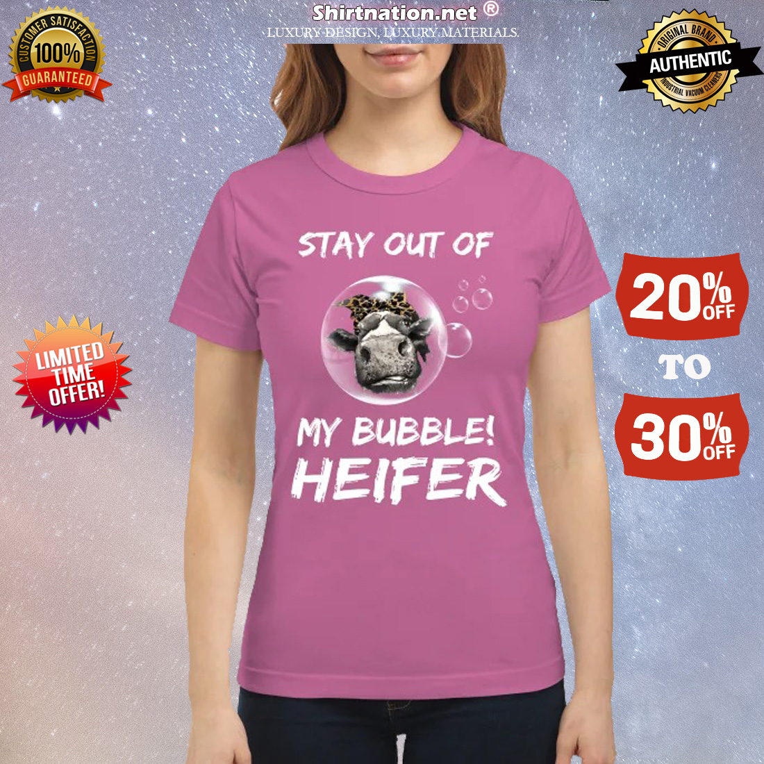 Stay out of my bubble heifer classic shirt
