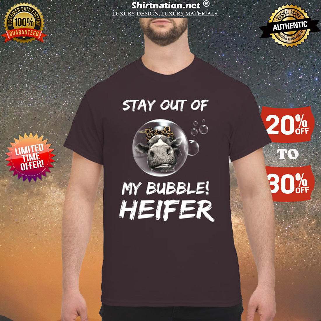 Stay out of my bubble heifer shirt