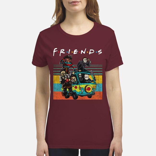 The Masscre machine friends premium women's shirt