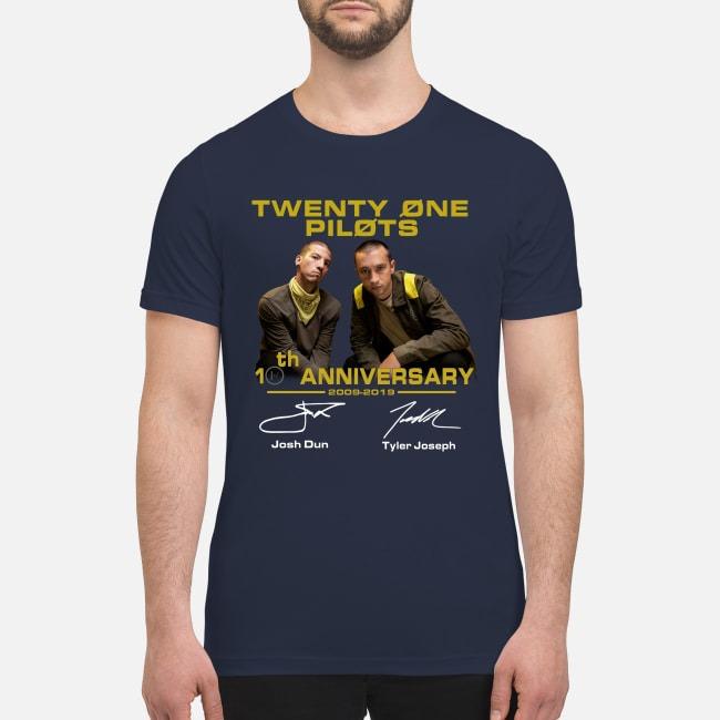 Twenty one pilots 10th anniversary premium men's shirt
