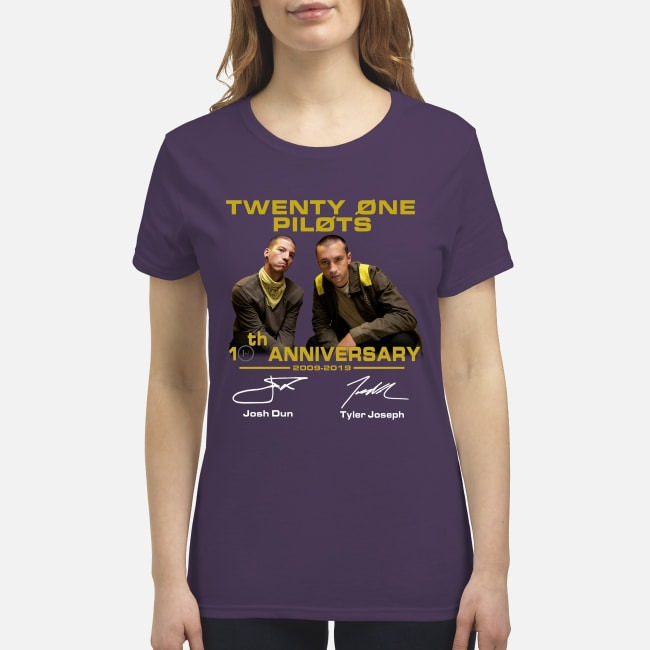 Twenty one pilots 10th anniversary premium women's shirt