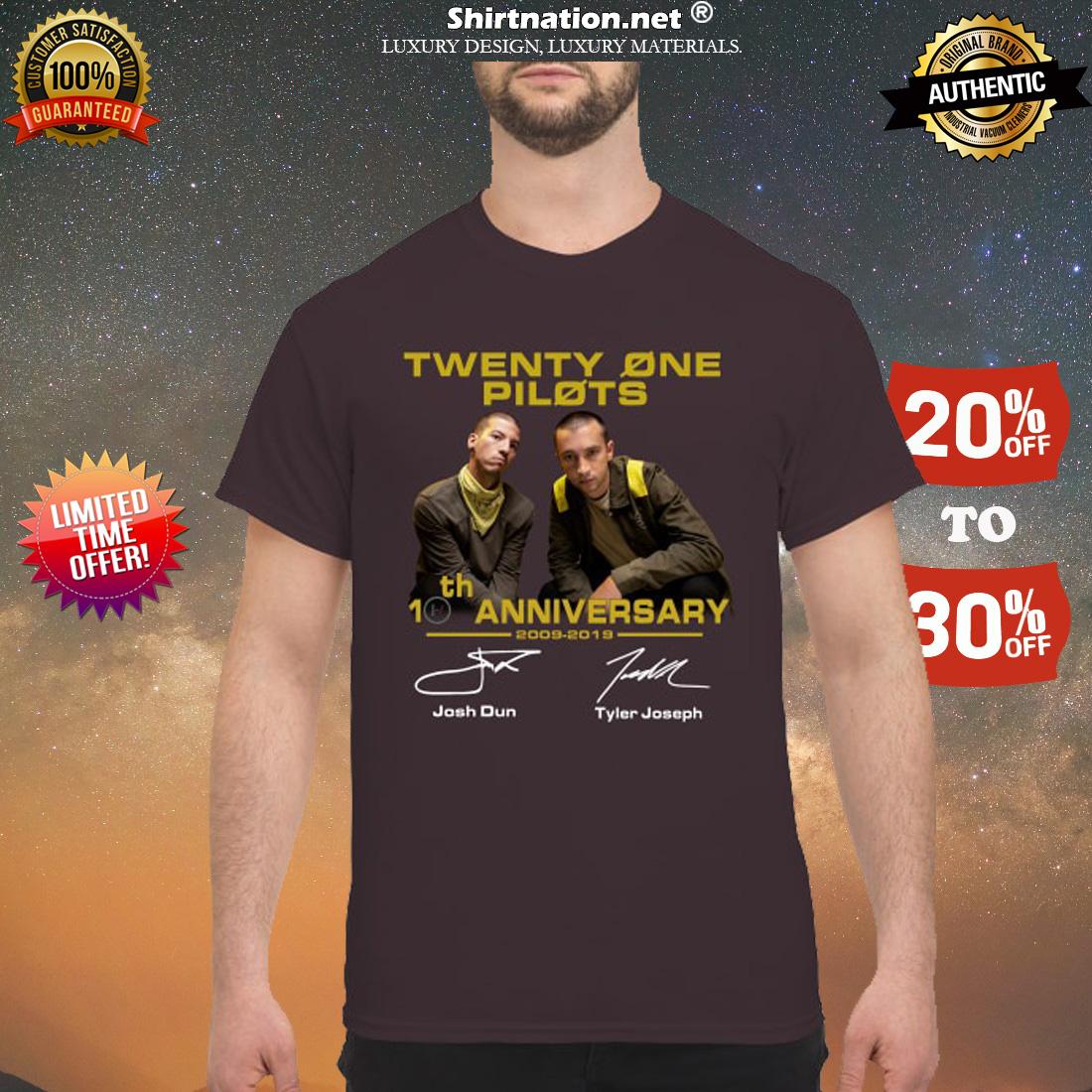 Twenty one pilots 10th anniversary shirt