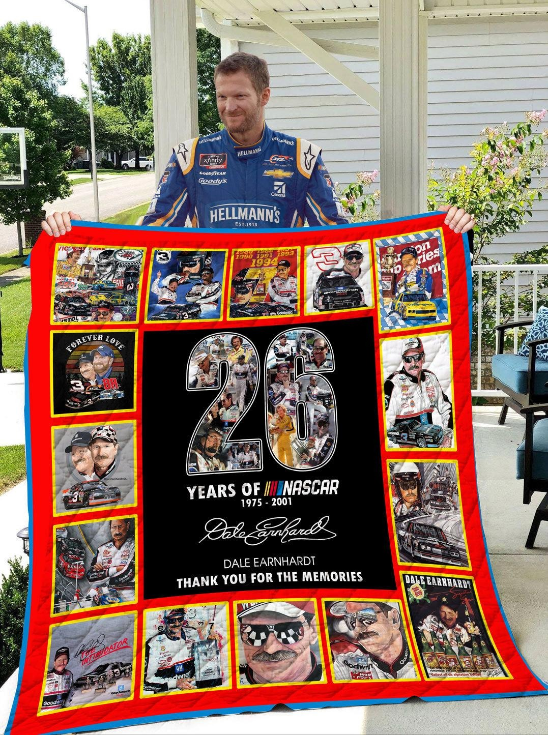 26 years of Nascar Dale Earnhardt quilt