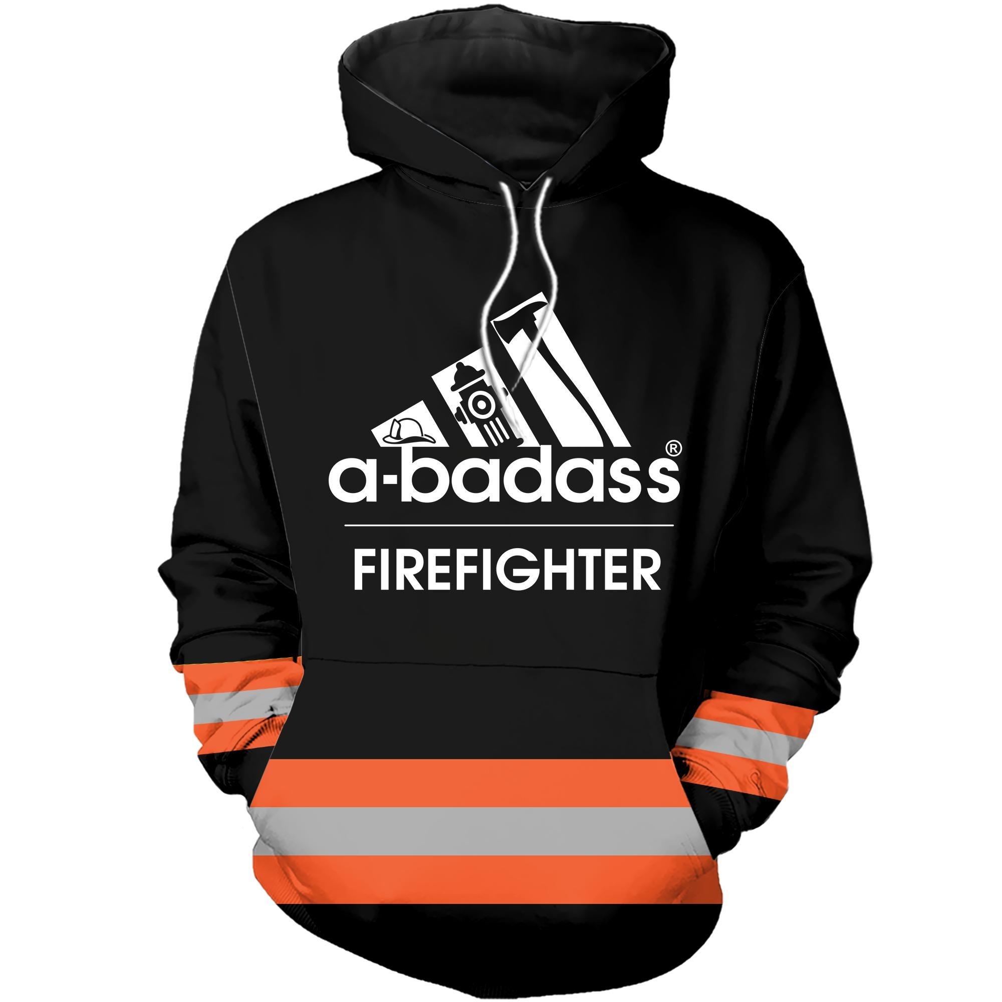 A badass firefighter 3D cool hoodie