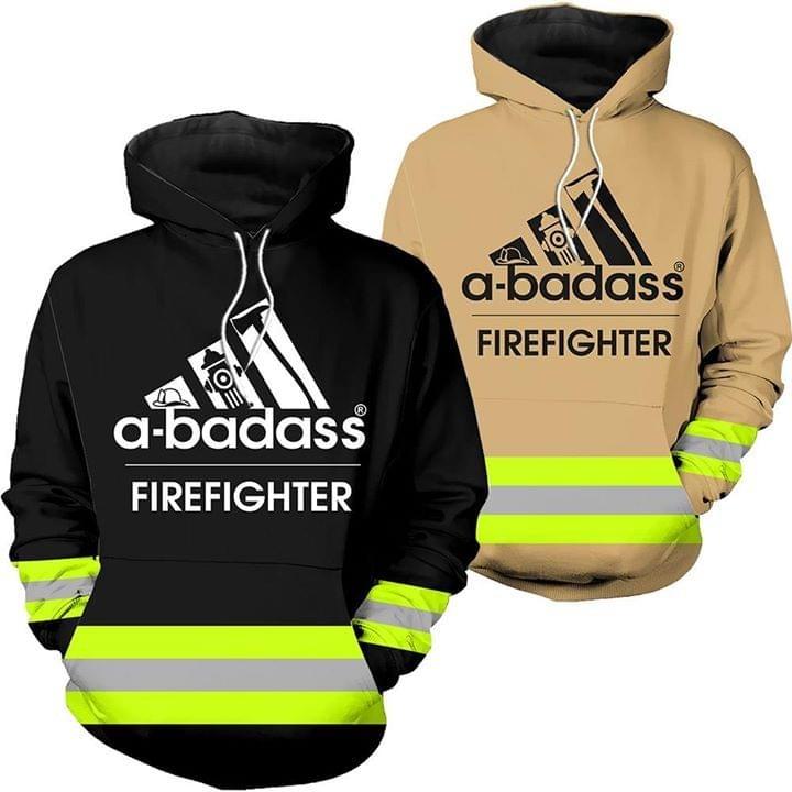 A badass firefighter 3D hoodie