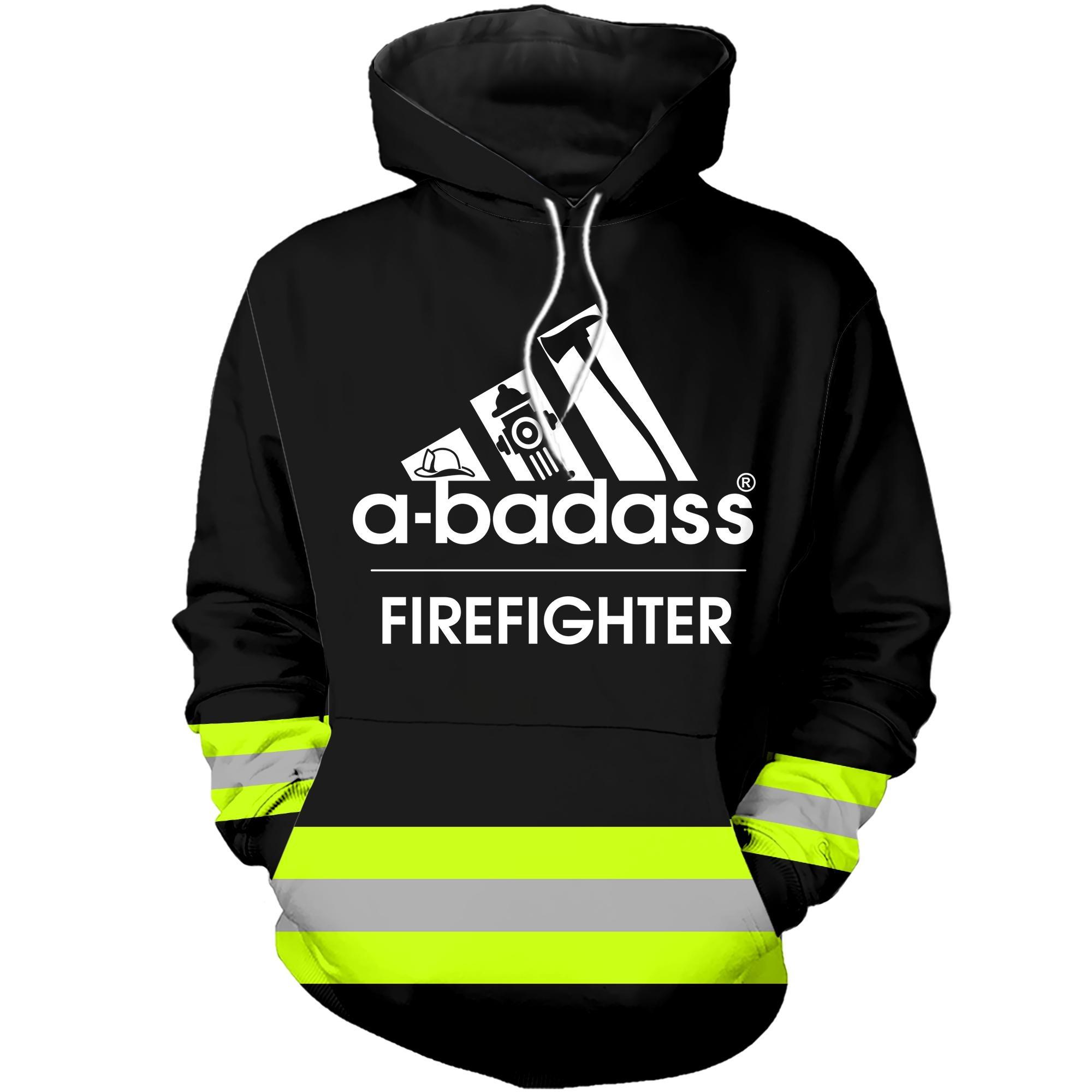 A badass firefighter 3D hoodies