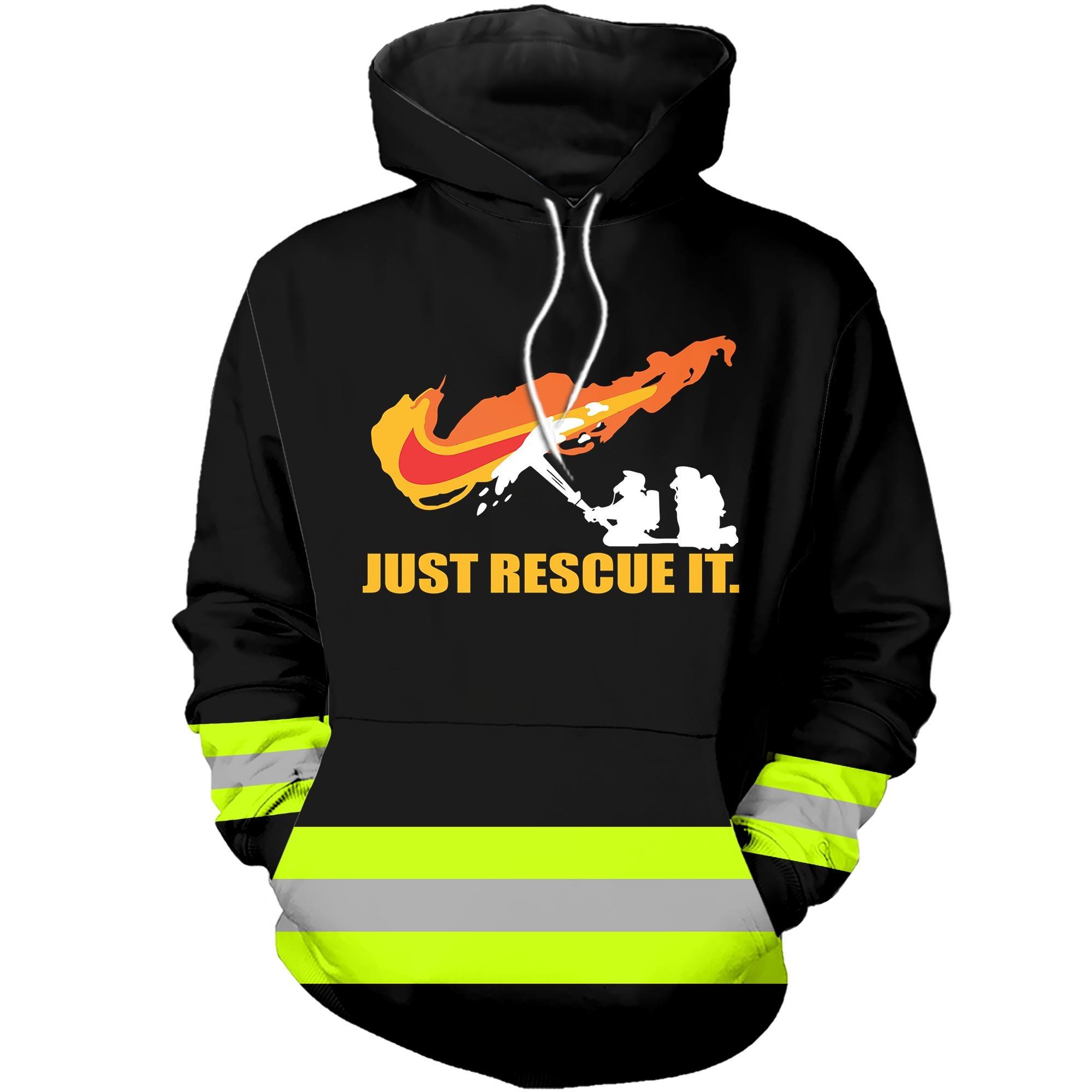 A badass firefighter 3D hot hoodie