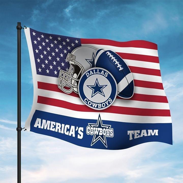 American Cowboy's team flag