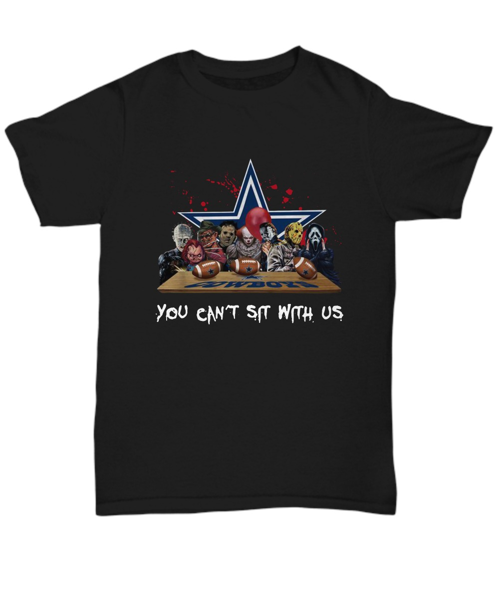 Dallas Cowboys Horror movie you can't sit with us shirt
