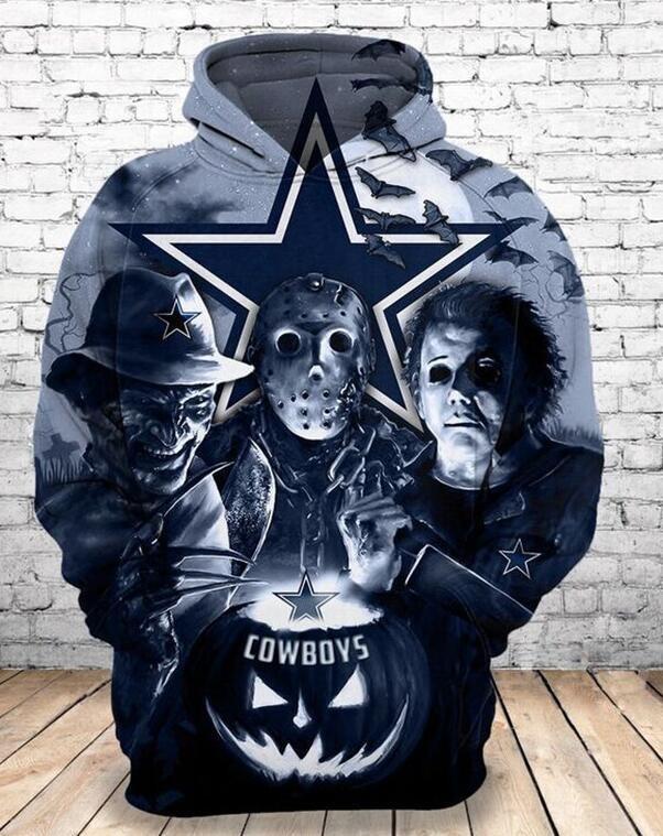 Dallas Cowboys horror characters 3D hoodie