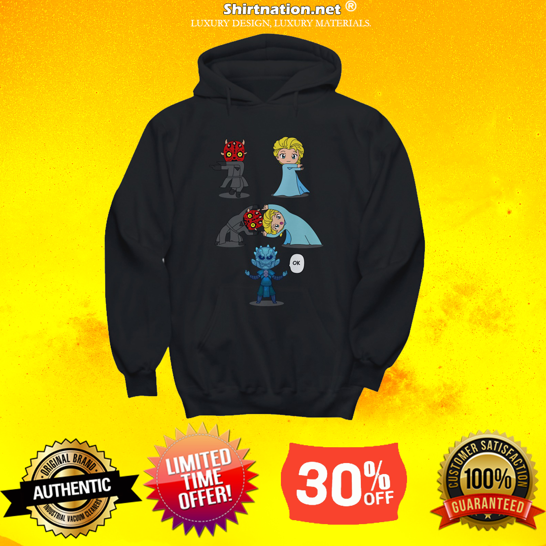 Darth Maul and Elsa shirt and hoodie