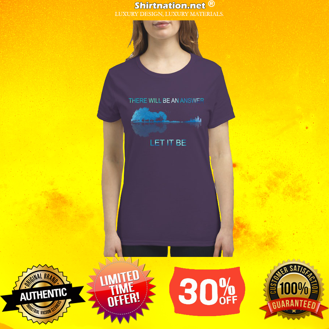 Guitar there will be an answer let it be premium women's shirt