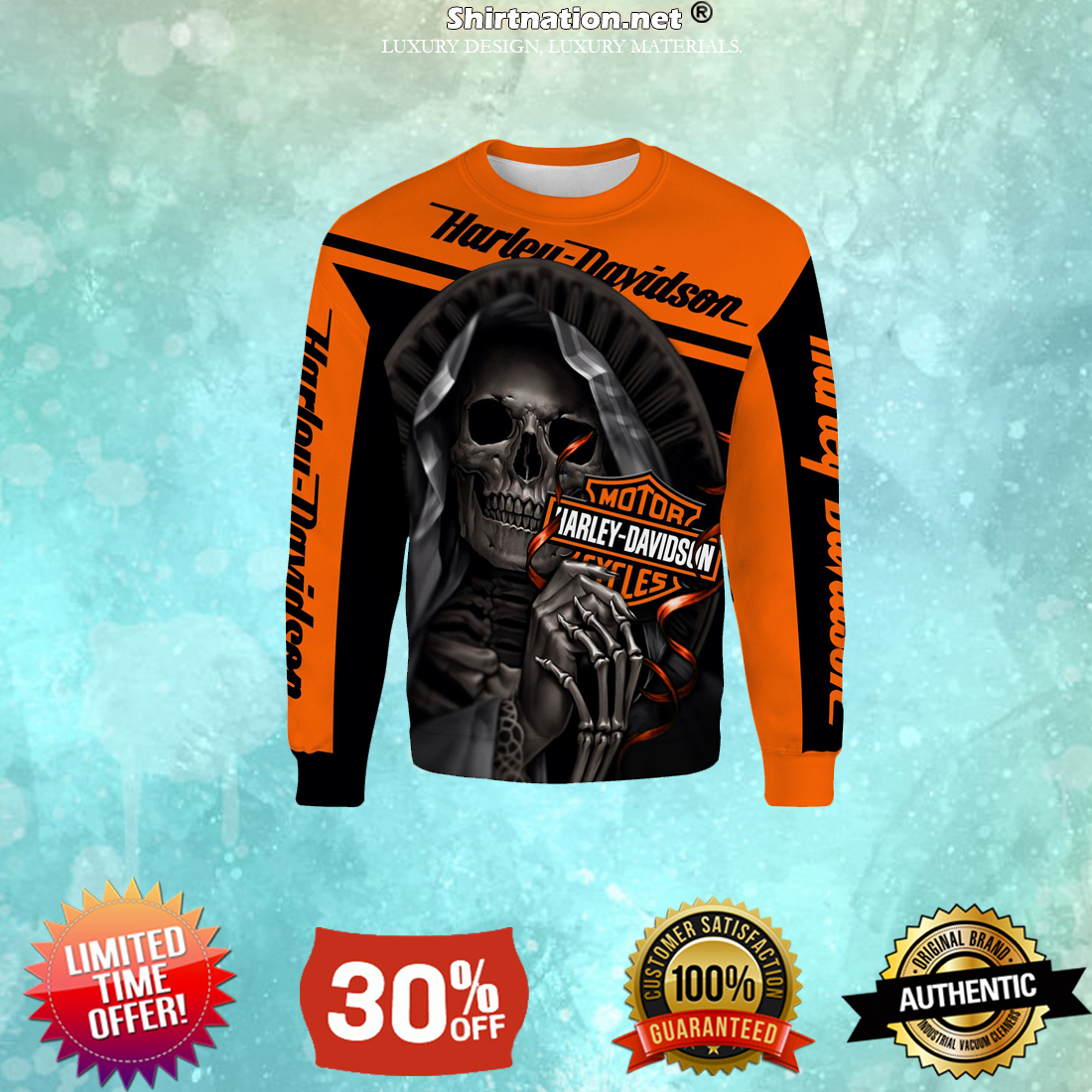 Harley Davidson motorcycle skull hoodie and sweatshirt