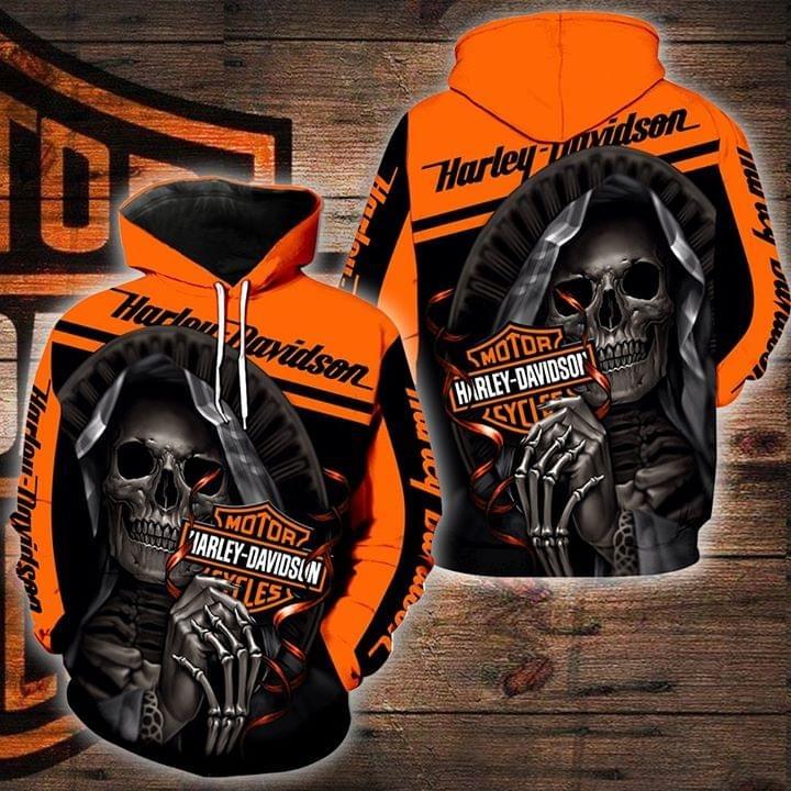 Harley Davidson motorcycle skull hoodie