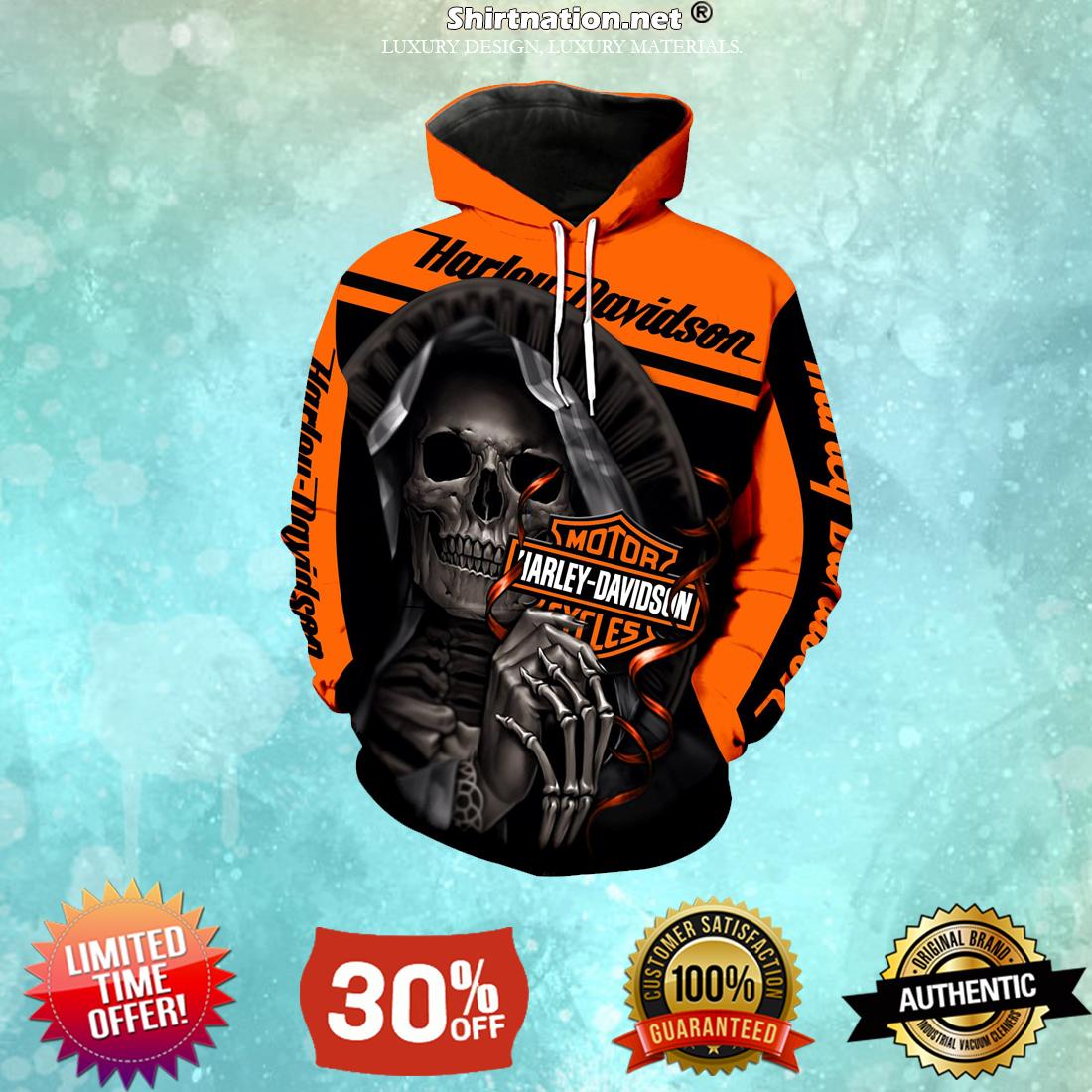 Harley Davidson motorcycle skull hoodies