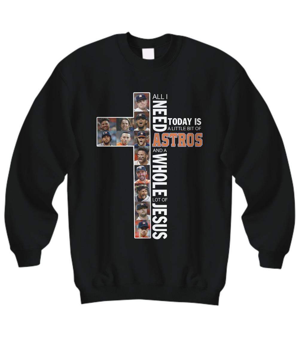 Houston Astros and Jesus sweatshirt