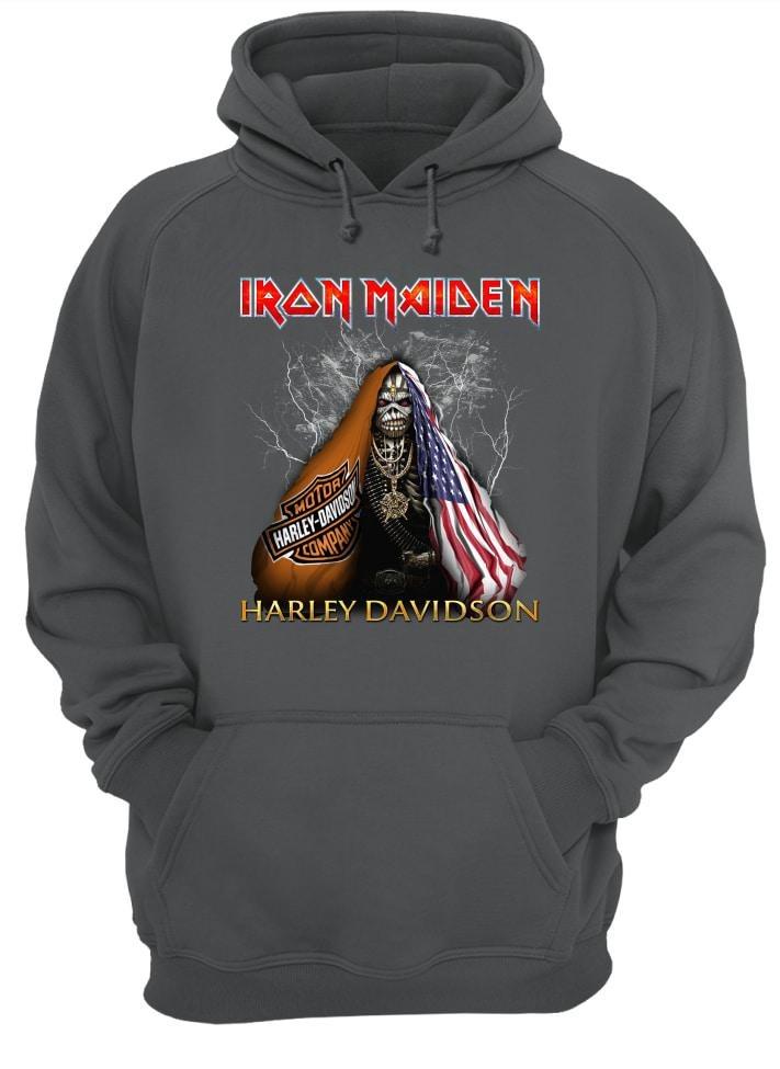 Iron Maiden Harley Davidson shirt and hoodie
