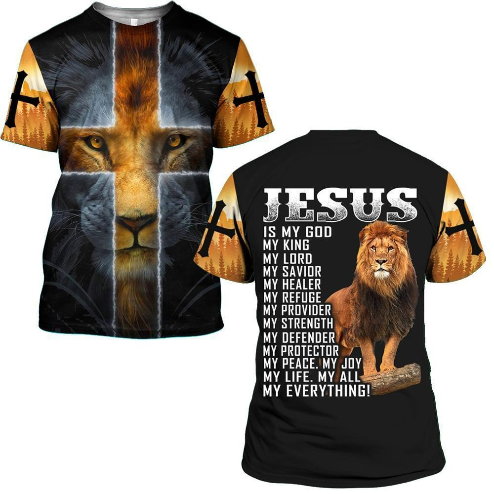 Jesus is my God my king my everthing all over 3D print classic shirt