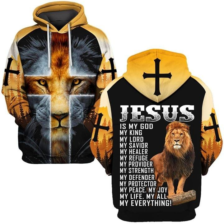 Jesus is my God my king my everthing all over 3D print shirt