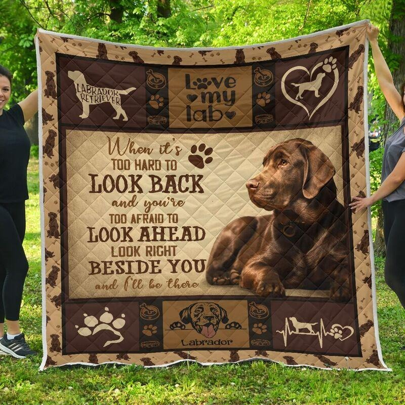 Labrador when it's too hard to look back quilts