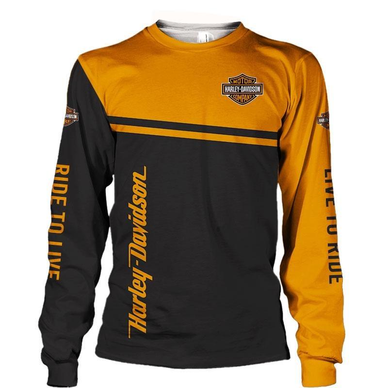 Motor Haley Davidson company snoopy 3D hoodie and long sleeved shirt