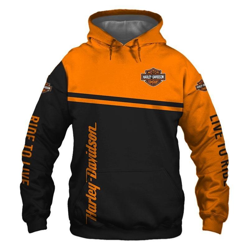 Motor Haley Davidson company snoopy 3D hoodie and shirts