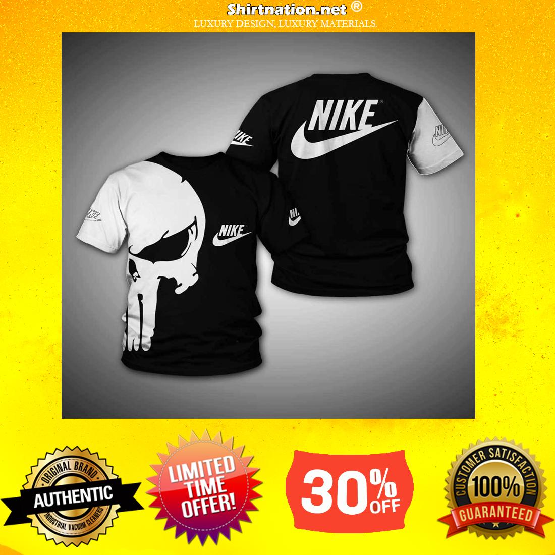 Nike Punisher skull full printhoodie 3d