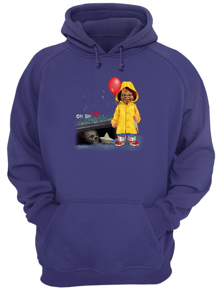 Oh shit Chucky and IT Pennywise shirt and hoodie